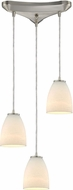 ELK 10466-3 Sandstorm Modern Satin Nickel Multi Pendant Lighting Fixture