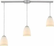 ELK 10466-3L Sandstorm Contemporary Satin Nickel Multi Hanging Pendant Lighting
