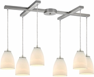 ELK 10466-6 Sandstorm Modern Satin Nickel Multi Hanging Pendant Light