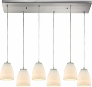 ELK 10466-6RC Sandstorm Contemporary Satin Nickel Multi Pendant Hanging Light
