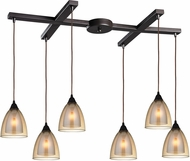 ELK 10474-6 Layers Modern Oil Rubbed Bronze Multi Drop Lighting Fixture