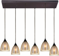 ELK 10474-6RC Layers Contemporary Oil Rubbed Bronze Multi Pendant Lighting