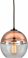 ELK 10490-1 Revelo Contemporary Oil Rubbed Bronze Mini Pendant Light Fixture