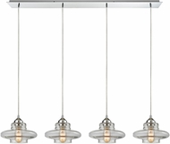 ELK 10525-4LP Orbital Contemporary Polished Chrome Multi Hanging Lamp