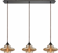 ELK 10535-3LP Orbital Modern Oil Rubbed Bronze Multi Hanging Light Fixture
