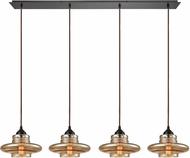 ELK 10535-4LP Orbital Contemporary Oil Rubbed Bronze Multi Drop Lighting