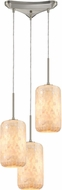 ELK 10542-3 Capri Contemporary Satin Nickel Multi Pendant Light