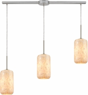 ELK 10542-3L Capri Modern Satin Nickel Multi Lighting Pendant