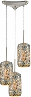 ELK 10552-3 Capri Modern Satin Nickel Multi Hanging Lamp