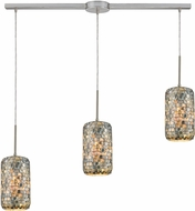 ELK 10552-3L Capri Contemporary Satin Nickel Multi Hanging Light