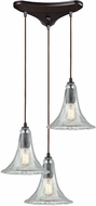 ELK 10652-3 Hand-Formed Glass Modern Oil Rubbed Bronze Multi Pendant Hanging Light