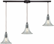 ELK 10652-3L Hand-Formed Glass Contemporary Oil Rubbed Bronze Multi Hanging Light Fixture
