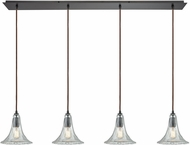 ELK 10652-4LP Hand-Formed Glass Contemporary Oil Rubbed Bronze Multi Drop Ceiling Lighting
