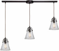 ELK 10661-3L Hand-Formed Glass Contemporary Oil Rubbed Bronze Multi Drop Lighting Fixture