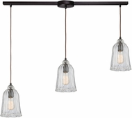 ELK 10671-3L Hand-Formed Glass Contemporary Oil Rubbed Bronze Multi Hanging Light