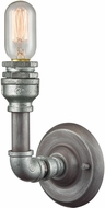 ELK 10682-1 Cast Iron Pipe Contemporary Weathered Zinc Zinc Plating Wall Sconce Lighting