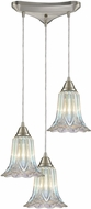 ELK 10685-3 Walton Modern Satin Nickel Multi Drop Ceiling Light Fixture