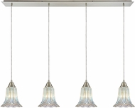 ELK 10685-4LP Walton Contemporary Satin Nickel Multi Pendant Light