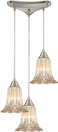 ELK 10695-3 Walton Modern Satin Nickel Multi Hanging Lamp