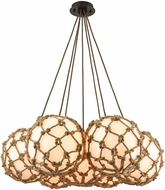 ELK 10710-7SR Coastal Inlet Oil Rubbed Bronze Multi Pendant Lighting Fixture