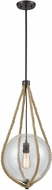 ELK 10714-1 Dangling Rope Modern Oil Rubbed Bronze Pendant Hanging Light