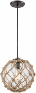ELK 10715-1 Coastal Inlet Contemporary Oil Rubbed Bronze Mini Hanging Light Fixture