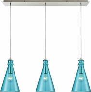 ELK 10771-3LP Parson Modern Satin Nickel Multi Hanging Light Fixture