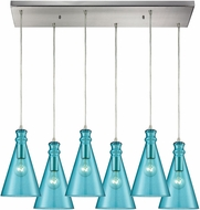 ELK 10771-6RC Parson Modern Satin Nickel Multi Drop Ceiling Lighting