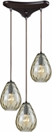 ELK 10780-3 Lagoon Modern Oil Rubbed Bronze Multi Ceiling Pendant Light