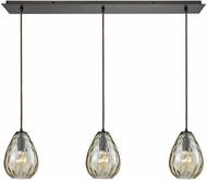 ELK 10780-3LP Lagoon Modern Oil Rubbed Bronze Multi Drop Lighting Fixture