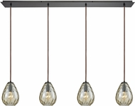 ELK 10780-4LP Lagoon Contemporary Oil Rubbed Bronze Multi Pendant Lighting