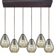 ELK 10780-6RC Lagoon Modern Oil Rubbed Bronze Multi Pendant Light