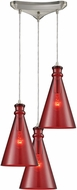ELK 10781-3 Parson Modern Satin Nickel Multi Pendant Lamp