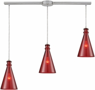 ELK 10781-3L Parson Contemporary Satin Nickel Multi Hanging Lamp