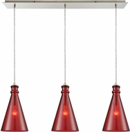 ELK 10781-3LP Parson Modern Satin Nickel Multi Hanging Light