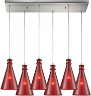 ELK 10781-6RC Parson Modern Satin Nickel Multi Pendant Lighting Fixture