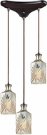 ELK 10800-3 Giovanna Modern Oil Rubbed Bronze Multi Hanging Pendant Light