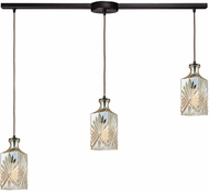 ELK 10800-3L Giovanna Contemporary Oil Rubbed Bronze Multi Pendant Hanging Light