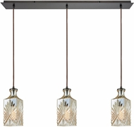 ELK 10800-3LP Giovanna Modern Oil Rubbed Bronze Multi Hanging Light Fixture