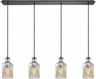 ELK 10800-4LP Giovanna Contemporary Oil Rubbed Bronze Multi Drop Lighting