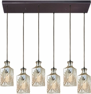 ELK 10800-6RC Giovanna Modern Oil Rubbed Bronze Multi Drop Ceiling Lighting
