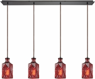 ELK 10810-4LP Giovanna Contemporary Oil Rubbed Bronze Multi Pendant Lighting