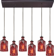 ELK 10810-6RC Giovanna Modern Oil Rubbed Bronze Multi Pendant Light