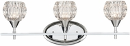 ELK 10821-3 Kersey Polished Chrome Halogen 3-Light Bathroom Light