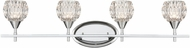 ELK 10822-4 Kersey Polished Chrome Halogen 4-Light Bathroom Lighting Fixture