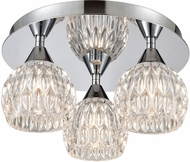 ELK 10823-3 Kersey Polished Chrome Halogen Ceiling Light