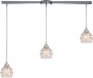 ELK 10824-3L Kersey Polished Chrome Halogen Multi Hanging Pendant Light