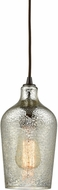 ELK 10830-1 Hammered Glass Contemporary Oil Rubbed Bronze Mini Lighting Pendant