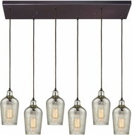 ELK 10830-6RC Hammered Glass Modern Oil Rubbed Bronze Multi Pendant Lighting Fixture