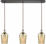 ELK 10840-3LP Hammered Glass Modern Oil Rubbed Bronze Multi Hanging Light Fixture